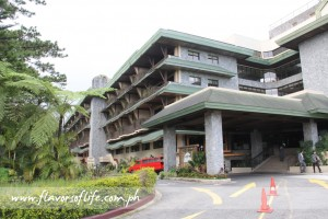 The facade of Baguio Country Club, home of the famous Raisin Bread