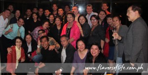 The group at Le Monet Hotel for dinner and drinks