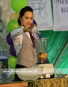 The action begins in the mocktail mixing competitions...