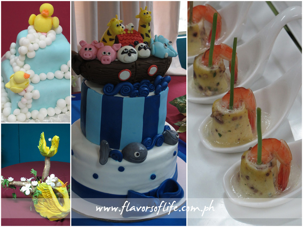 Winning entries in the Baby Cakes: Baby Shower, Creative Cake Decoration: Baptismal, Amuse Bouche and The Filipino Carver: Flights of Fancy competitions