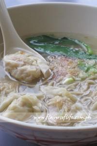 Seafood Dumpling Noodle Soup