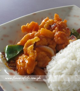 Sweet and Sour Fish Fillet Rice