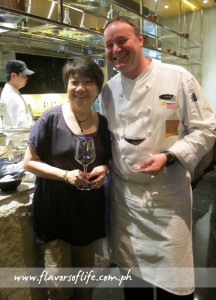 Happy Living's Katherine Yao Santos and Impressions' celebrity chef Cyrille Soenen