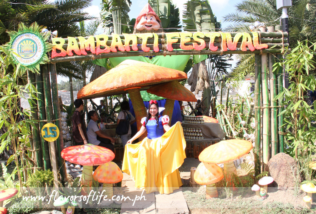 The booth of the City of Cauayan in the Agro-Eco Tourism Trade Exhibit held in conjunction with the 2013 Magical Bambanti Festival in Isabela, had a Snow White and the Seven Dwarfs concept