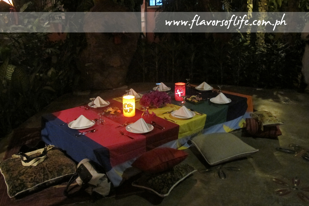 The al fresco pavilion was set up Moroccan style for an awesome Moroccan dinner