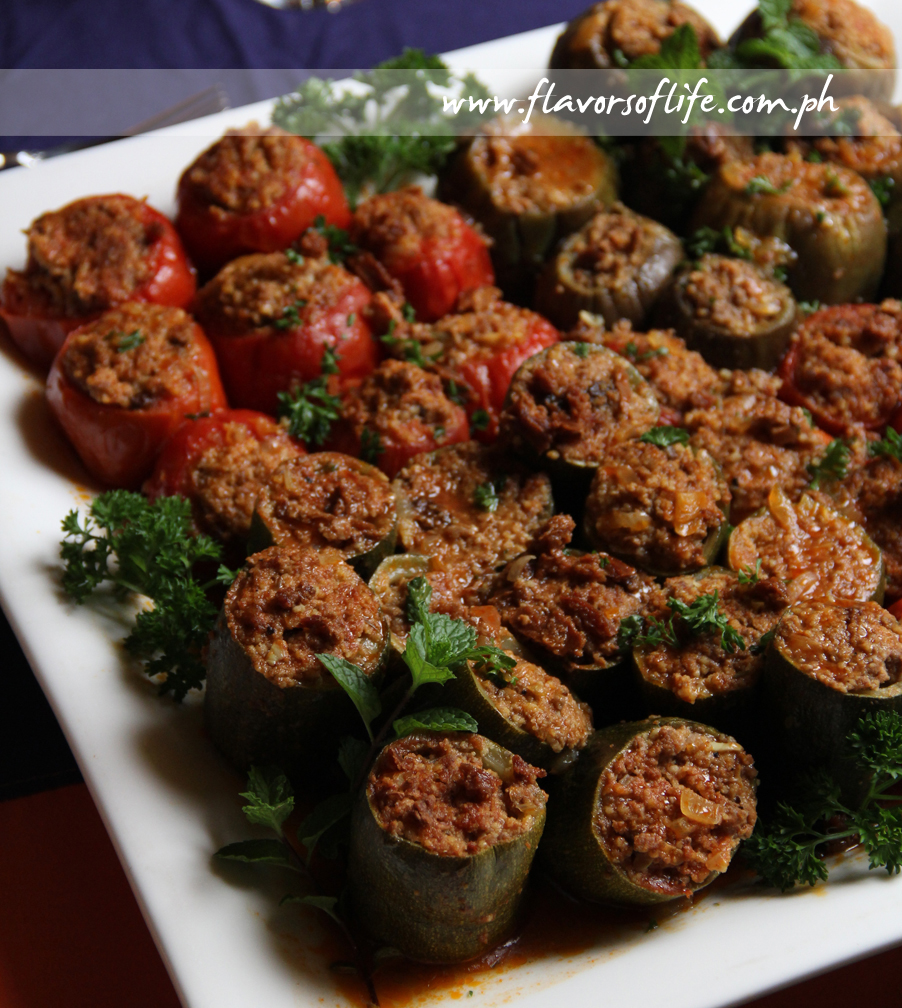 Eggplant, Zucchini and Tomato Stuffed with Beef and Couscous