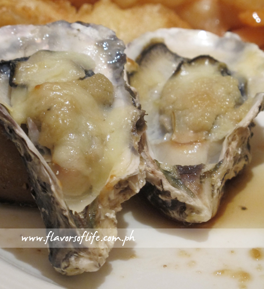 Oysters with Garlic and Cheese