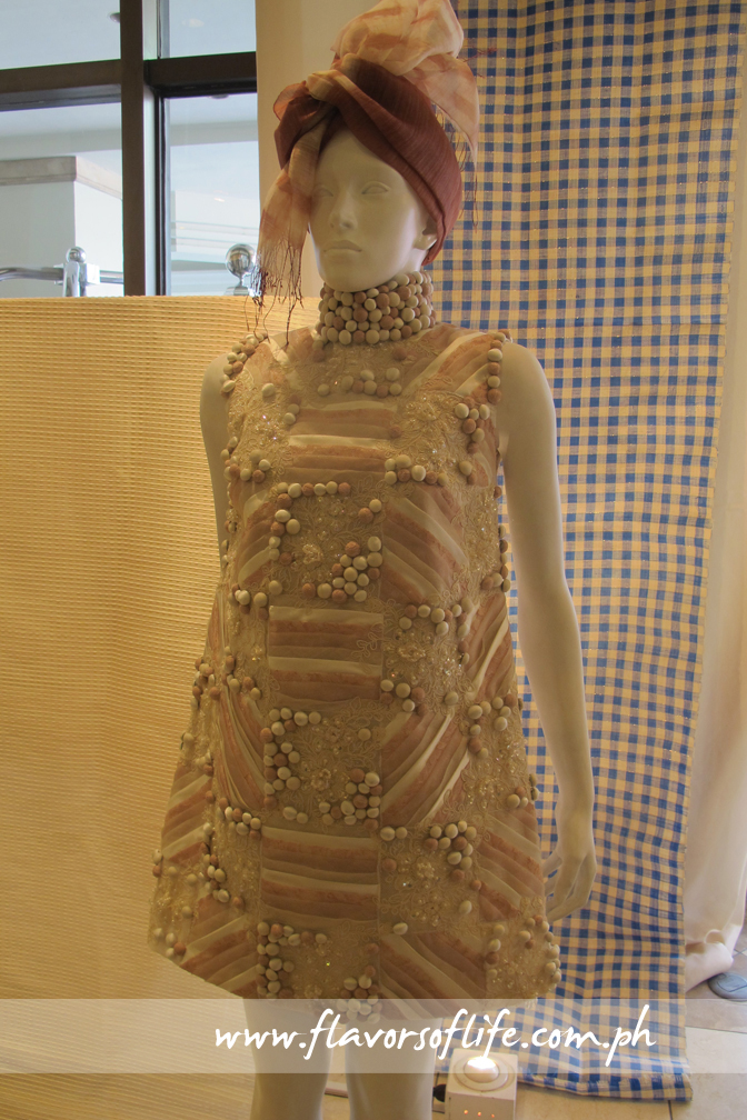 Exquisite piña dress featured in the amazing Weaves exhibit at InterContinental Manila's Lobby