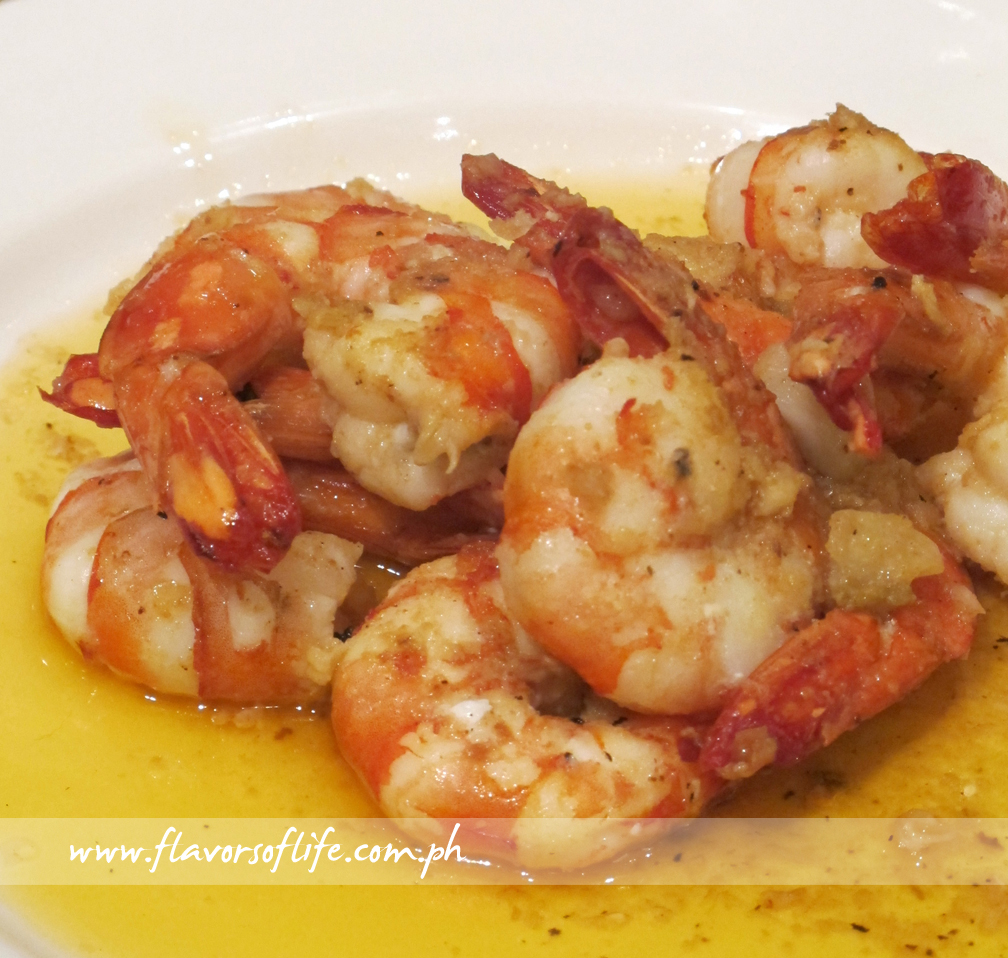 Shrimps Cooked in Lemon and Butter