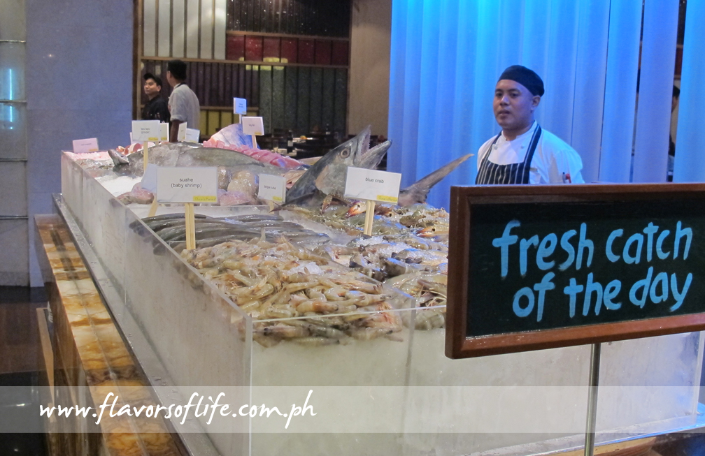 Fresh Catch of the Day, which teems with everything seafood, is set up at Marriott Cafe for Ocean's Harvest every Friday