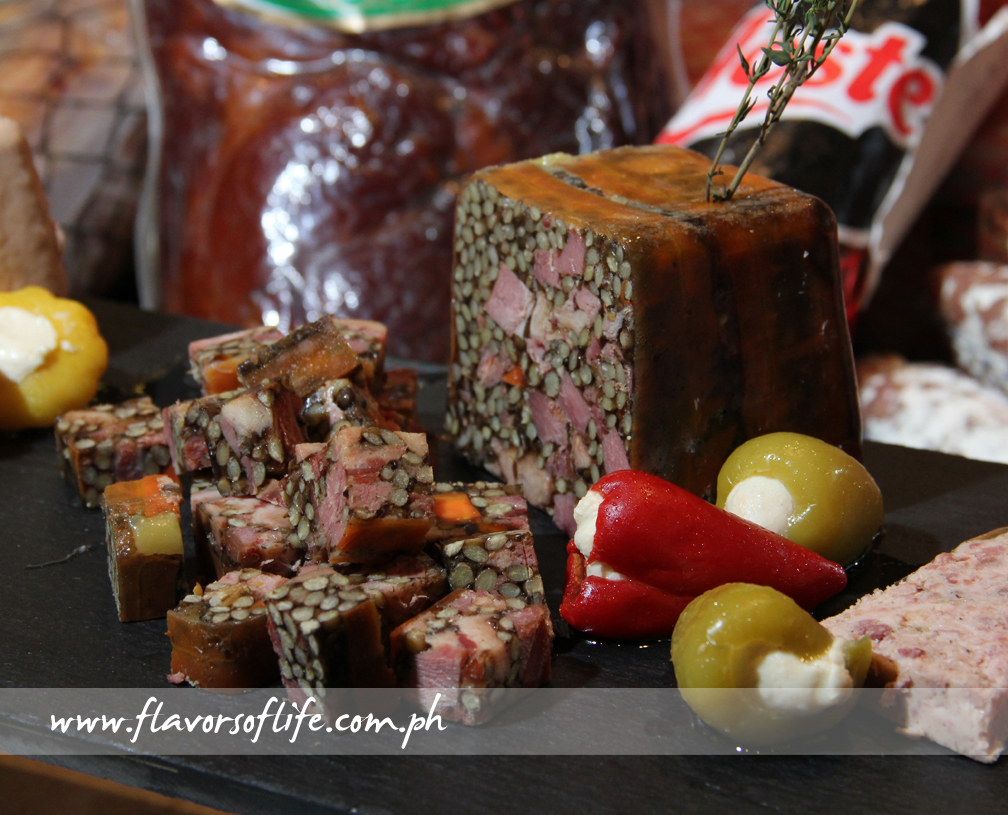 Exquisite terrine on the appetizer spread of Fresh Café