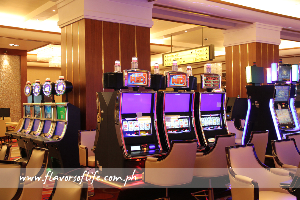 One of the gaming areas at Solaire