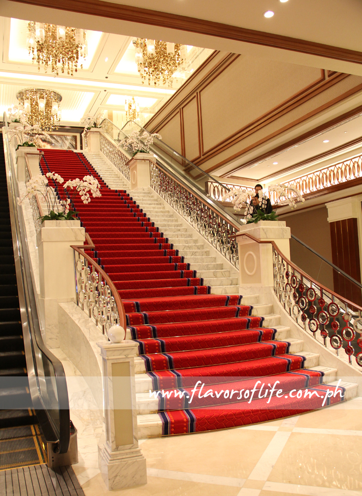 The grand staircase at the lobby