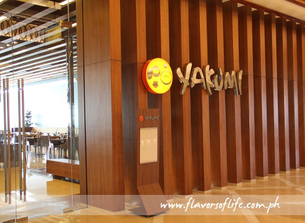 Yakumi is Solaire's Japanese restaurant