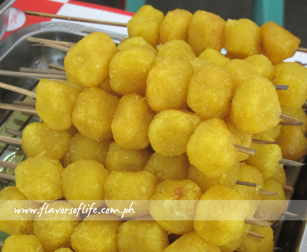 Tabog-Tabog is a skewer of cassava balls