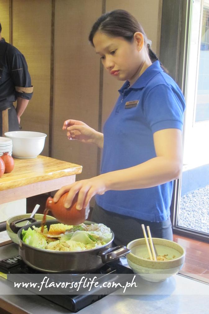 Cooking sukiyaki