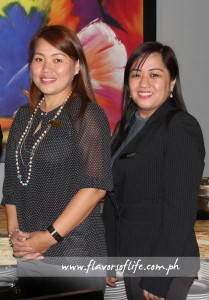 Luxent Hotel GM Melanie Pagkalinawan and sales and marketing director Mayette Delfin