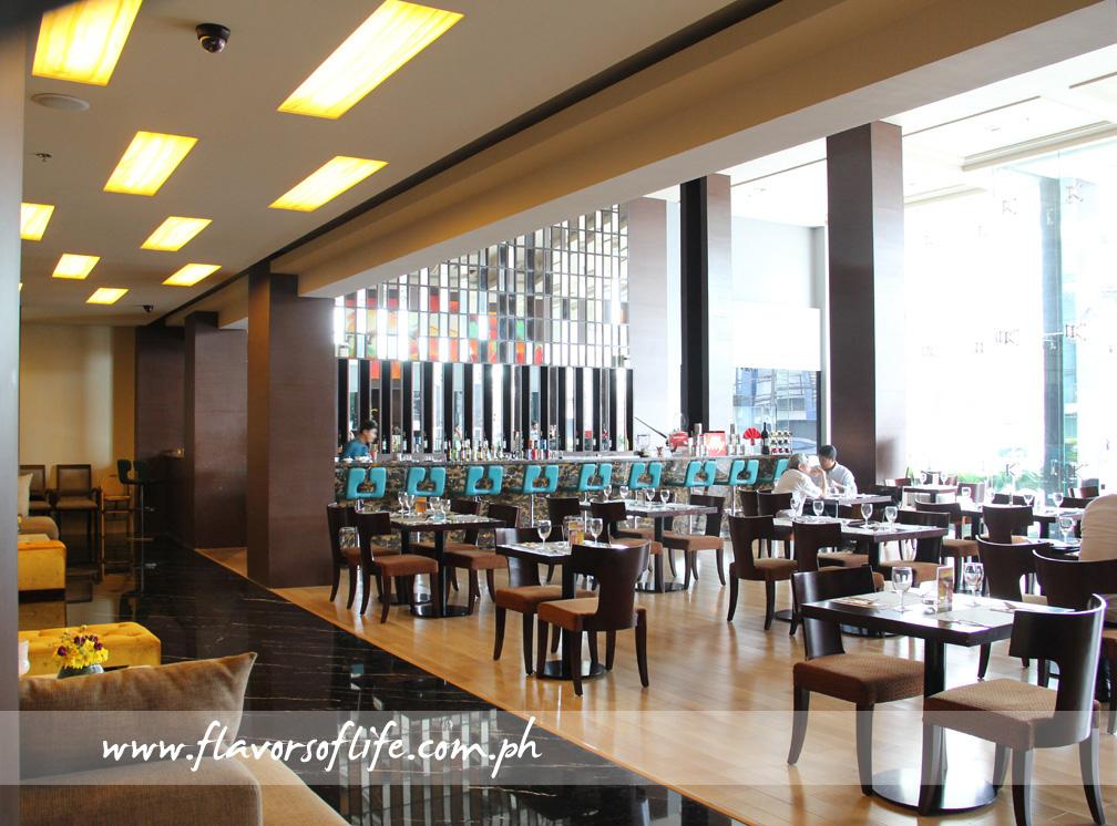 Lush Bar serves an extensive menu of a la carte dishes