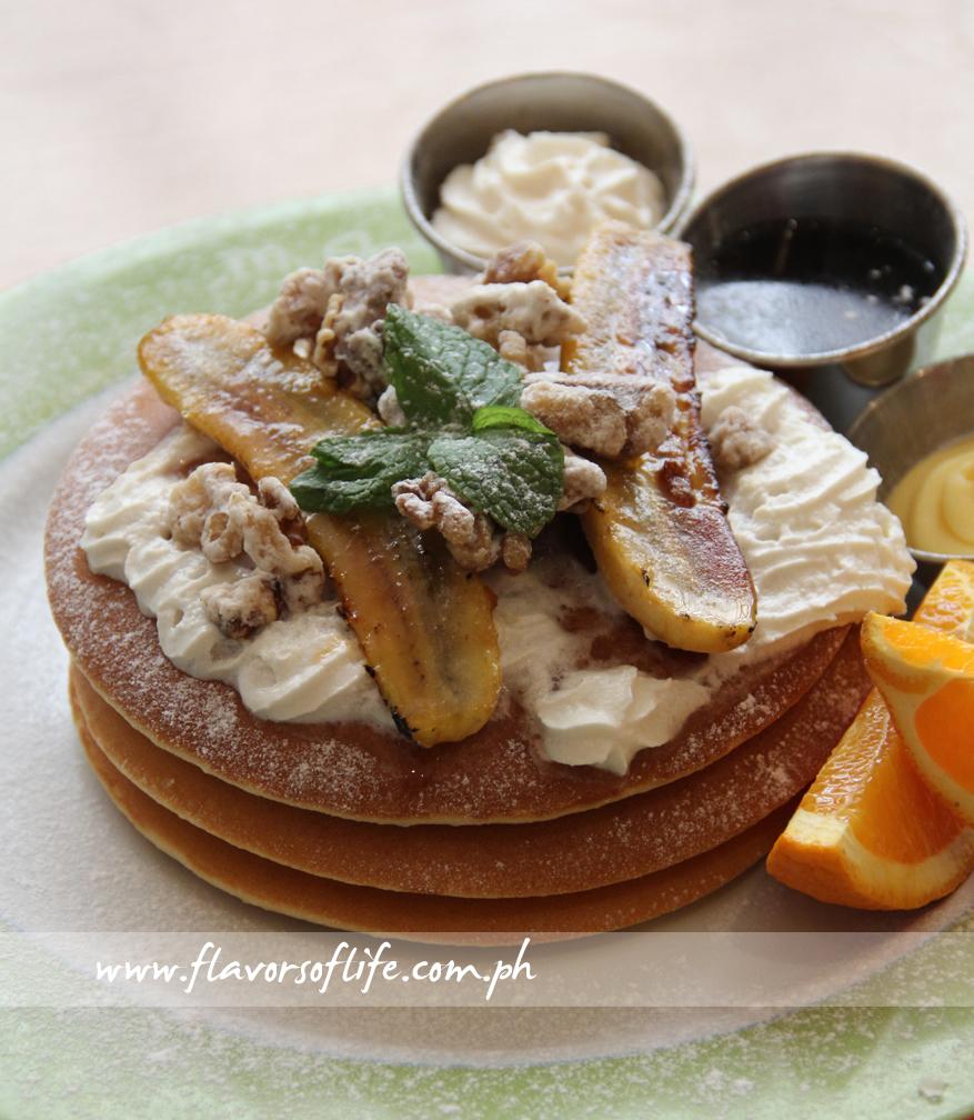 Banana Walnut Pancake Stack