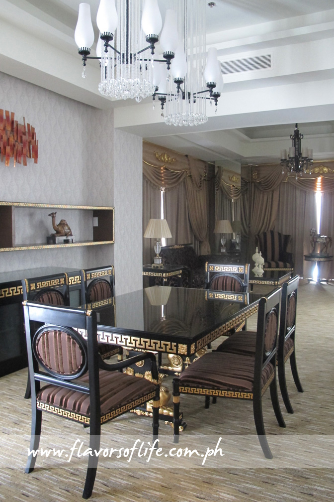 The suite also boasts of a dining room and an adjacent living room