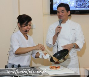 AzuThai's Chef Malichat and celebrity chef J Gamboa conducting a Thai cooking class at The Maya Kitchen Culinary Center