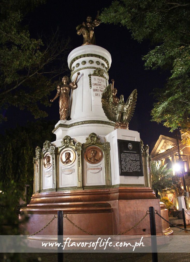 Monument in honor of the 15 martyrs of Bicol standing at Plaza Quince Martires