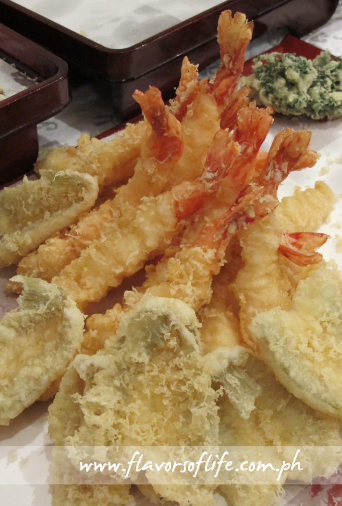 Shrimp and fish tempura