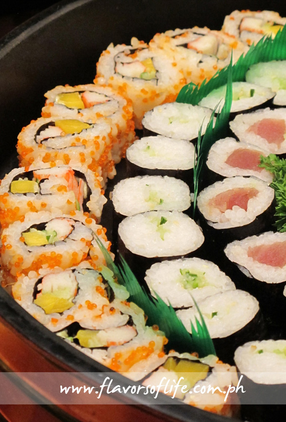 Assorted makis and sushis
