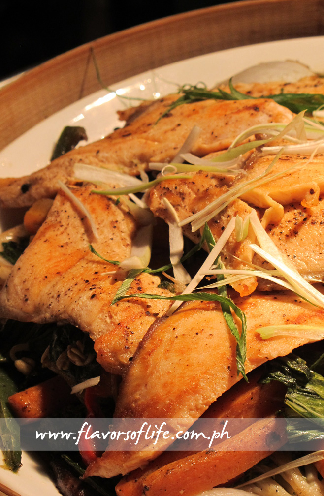 Wild Alaska Salmon with Chinese Stir-fried Vegetables