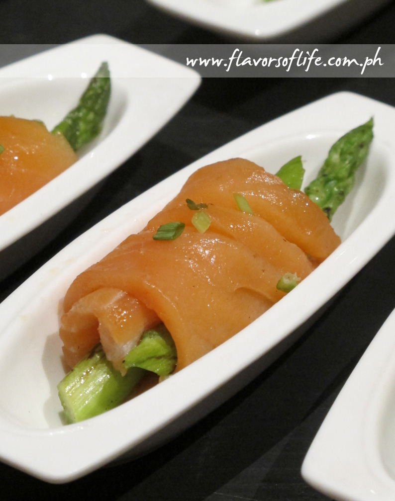Salmon with Asparagus Roll