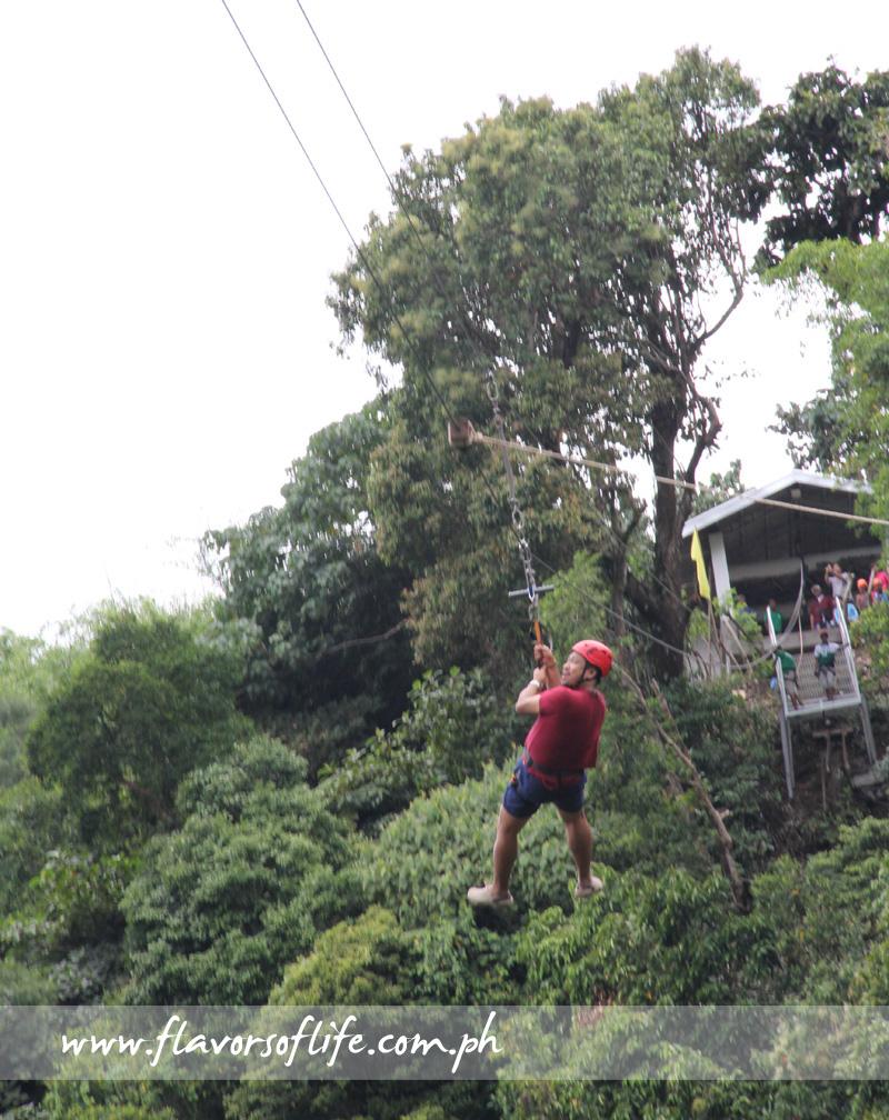 Ziplining at Panicuason Hot Spring Resort