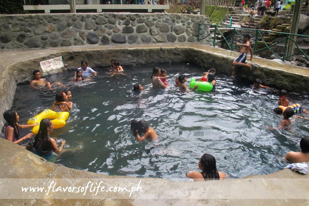 One of the geothermal hot spring pools at Panicuason Hot Spring Resort
