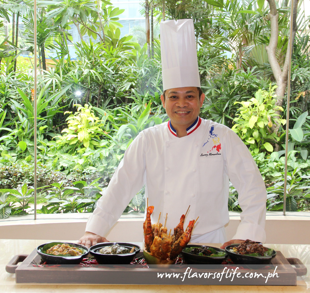Edsa Shangri-La Hotel's executive sous chef Sonny Almandres takes the spotlight in the Pinoy Hot at HEAT Bicolano food promotion from June 12 to 30 this year
