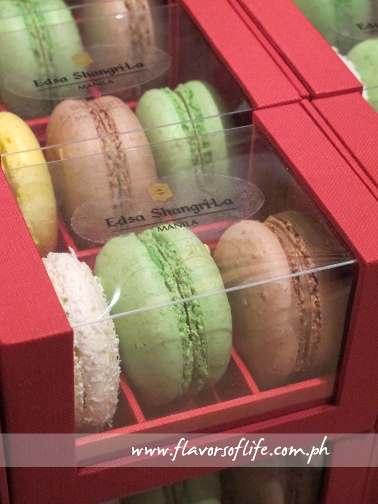 Chef Sonny Almandres made these French Macaroons using ground pili nut instead of ground almonds