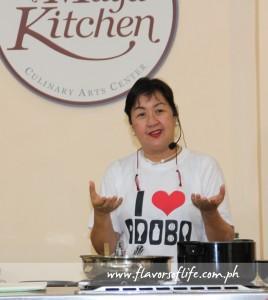 Culinary expert Nancy Reyes-Lumen