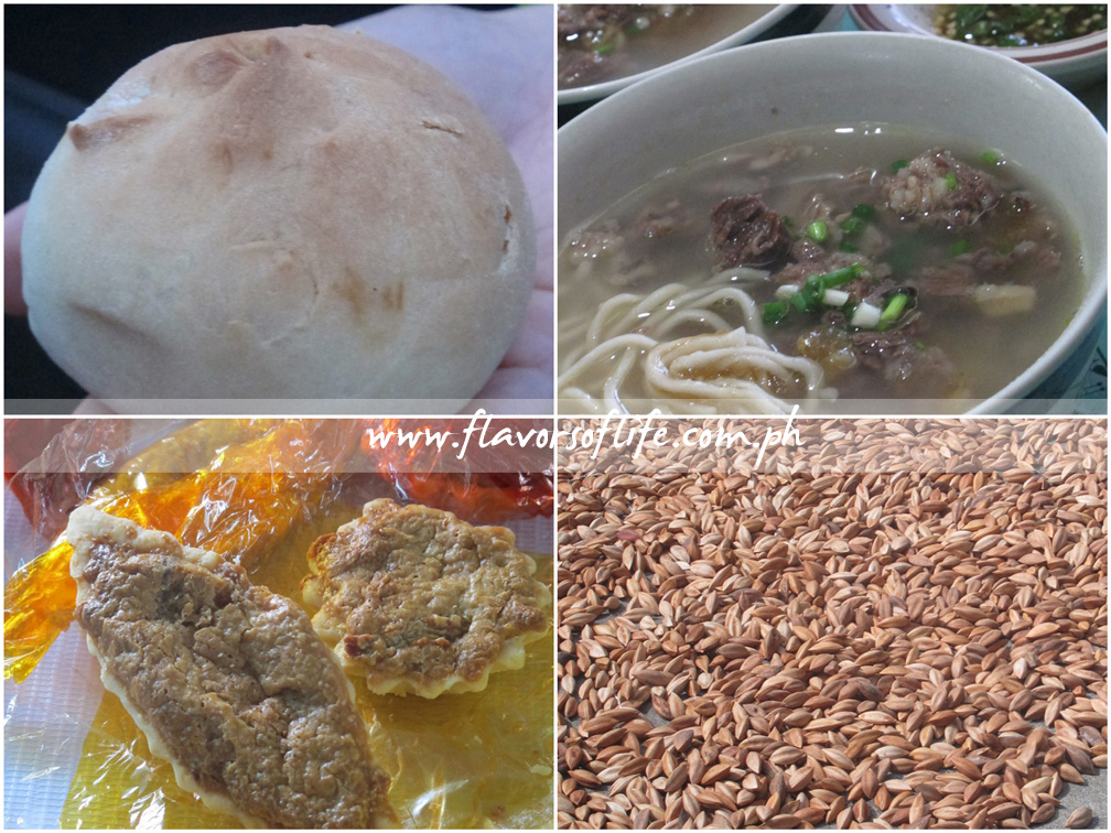 Not-to-be-missed Bicolano treats, clockwise from top left: Toasted Siopao, Kinalas, Pini Nuts, and Pili Tarts