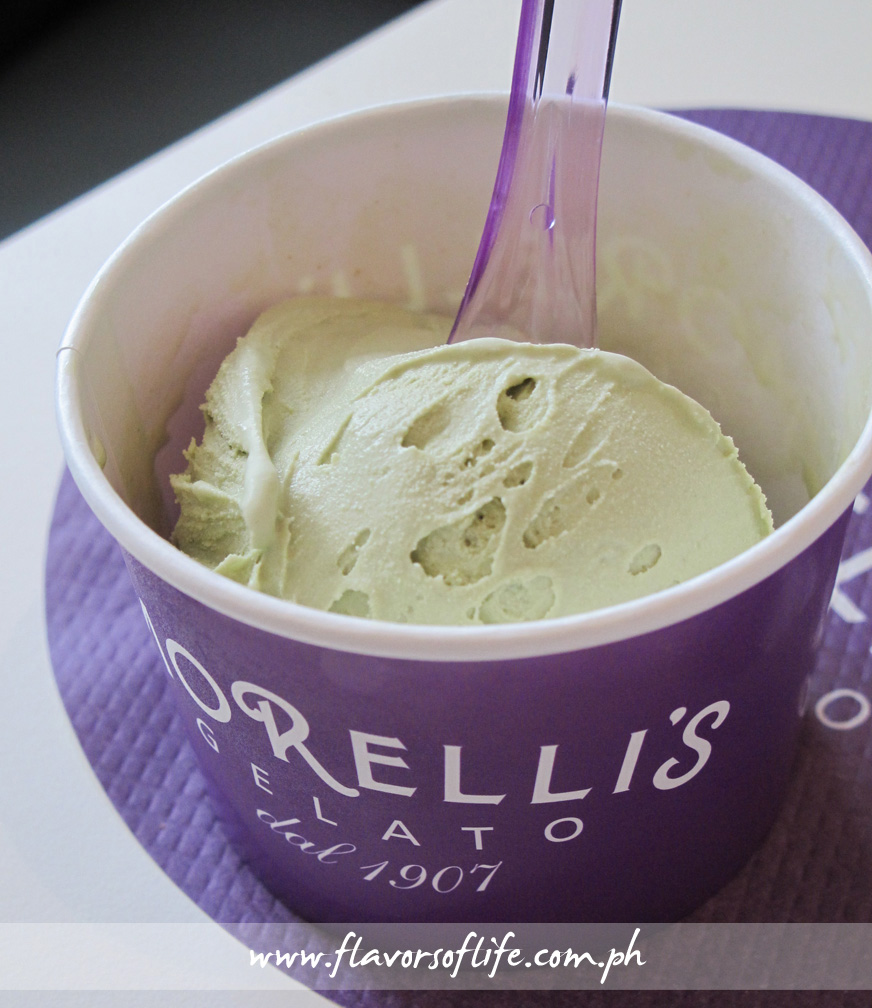Awesome Pistachio Gelato from Morelli's Gelato Caffè at Shangri-La Plaza's new East Wing