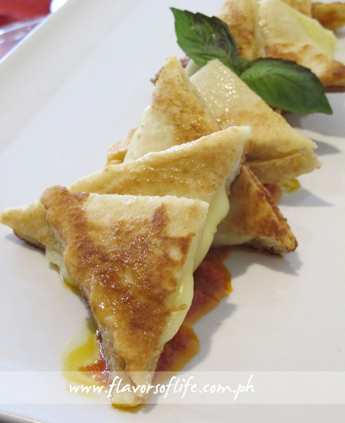 Mozzarella in Carrozza with Arrabbiata Sauce