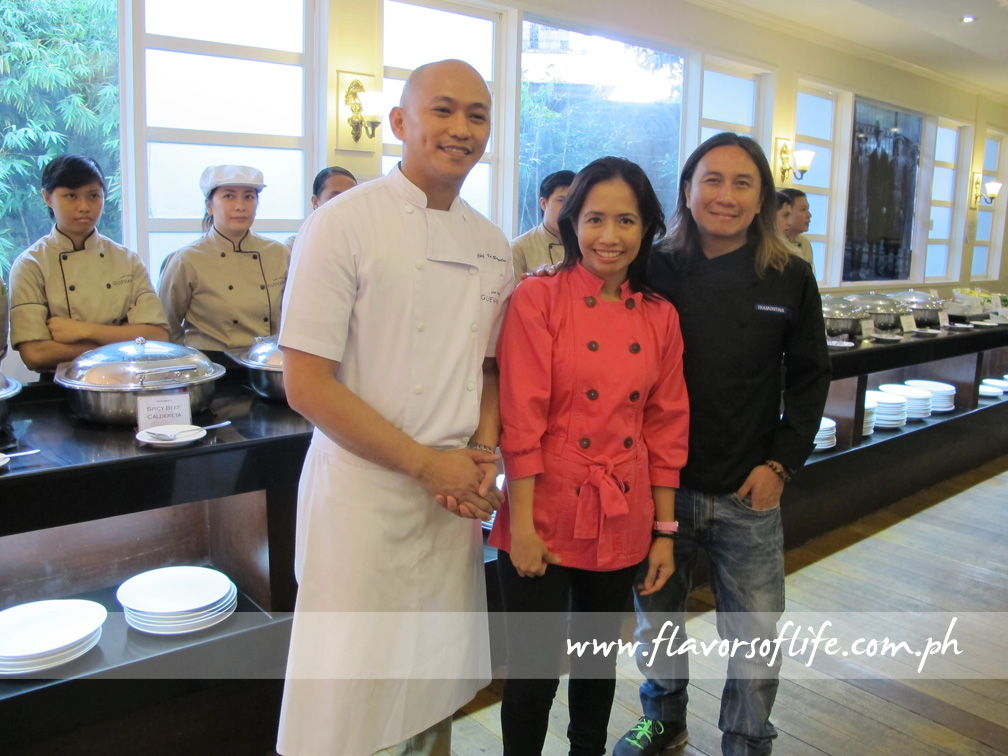 Sous chef Von Ragadas with Chefs Jackie and Roland Laudico