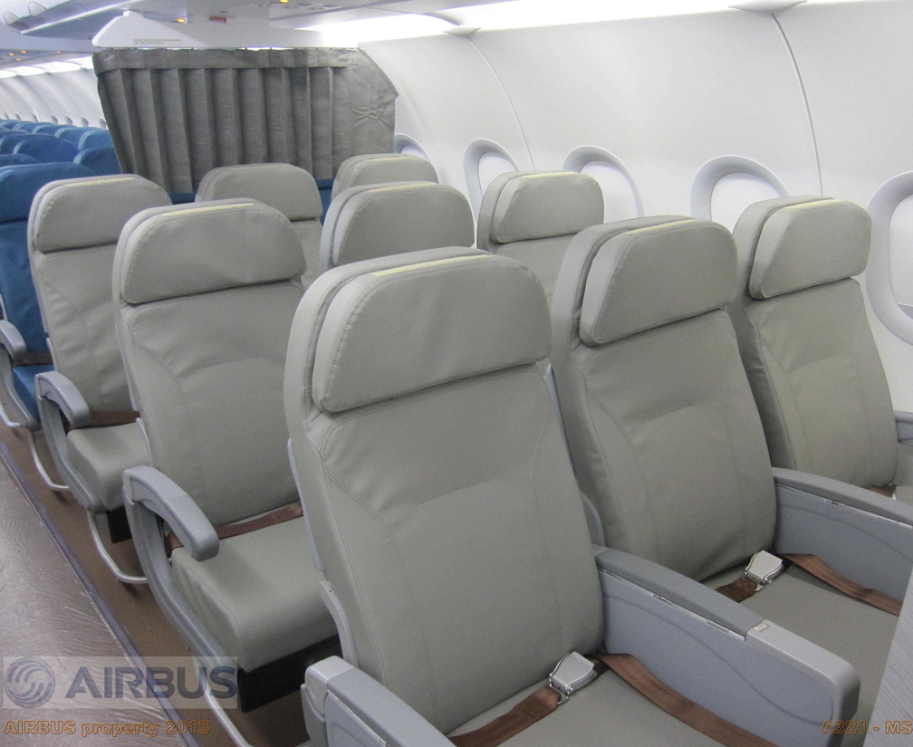 The Premium Economy seats are three in a row on each side but still very comfortable
