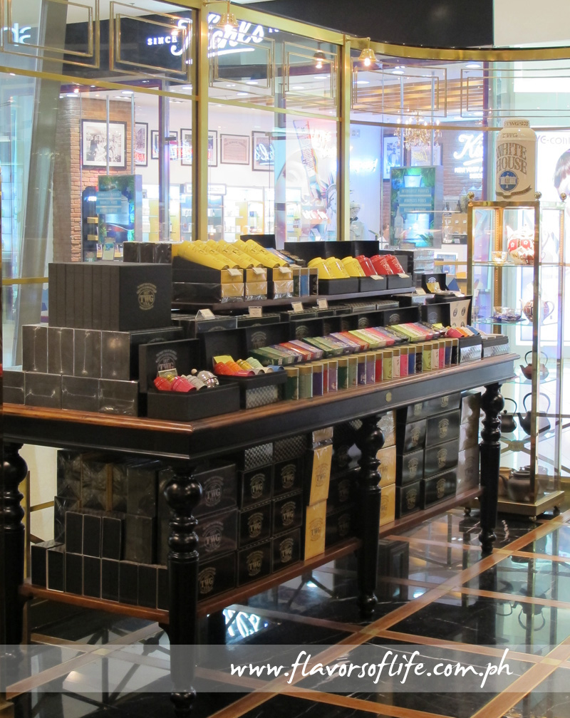 Some of the exquisite teas for sale at TWG Tea