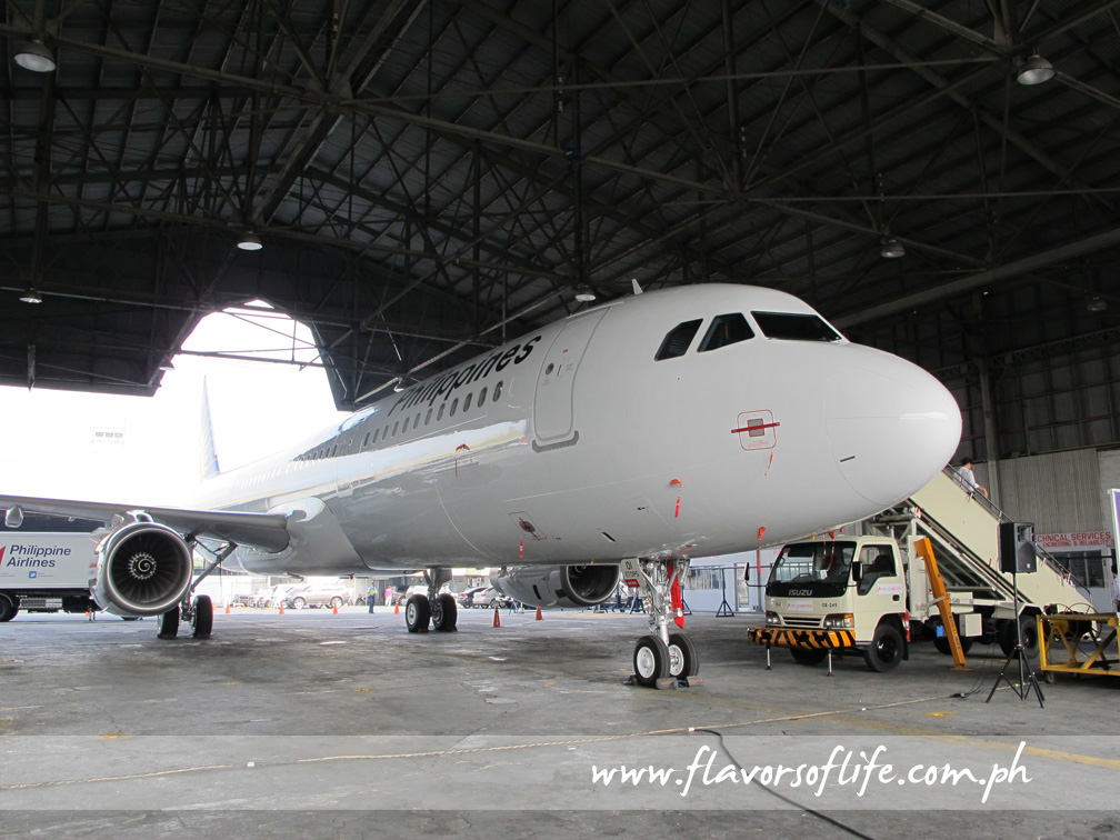 PAL's first Airbus A321 parked at the PAL Express R1 Hangar in Pasay City this morning