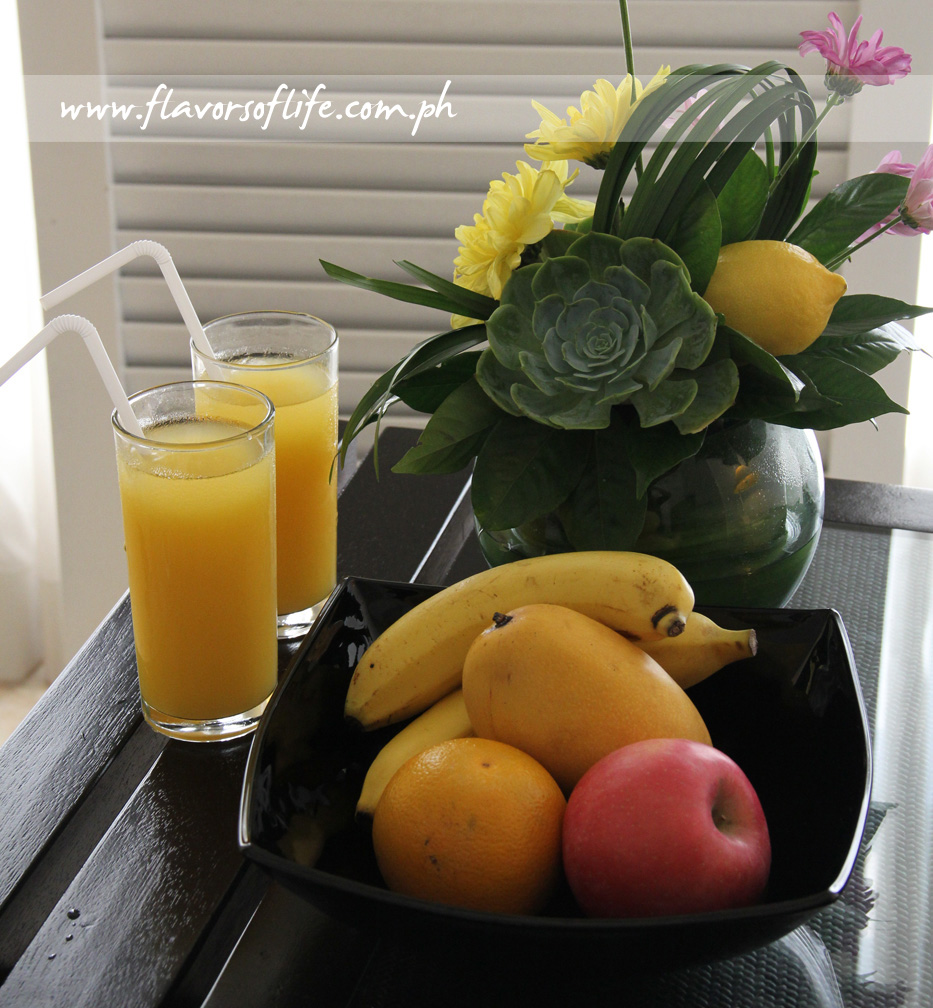 Fresh Fruit Basket and Fruit Juices in the room