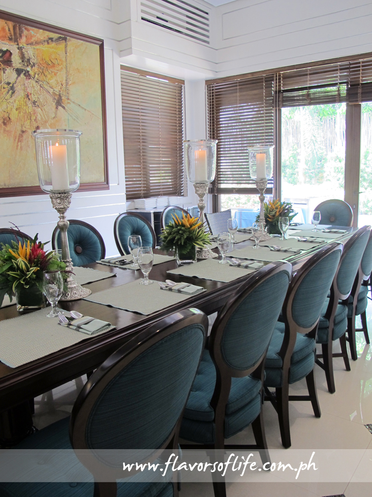 One of the adjacent dining rooms