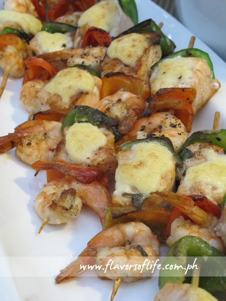 Shrimp and Salmon Skewers