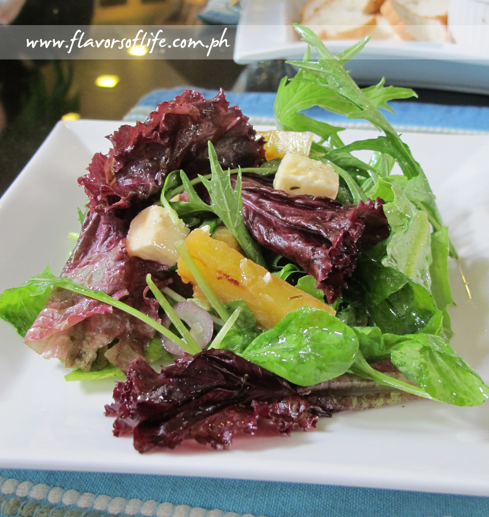Garden Fresh Salad with Grilled Pineapple