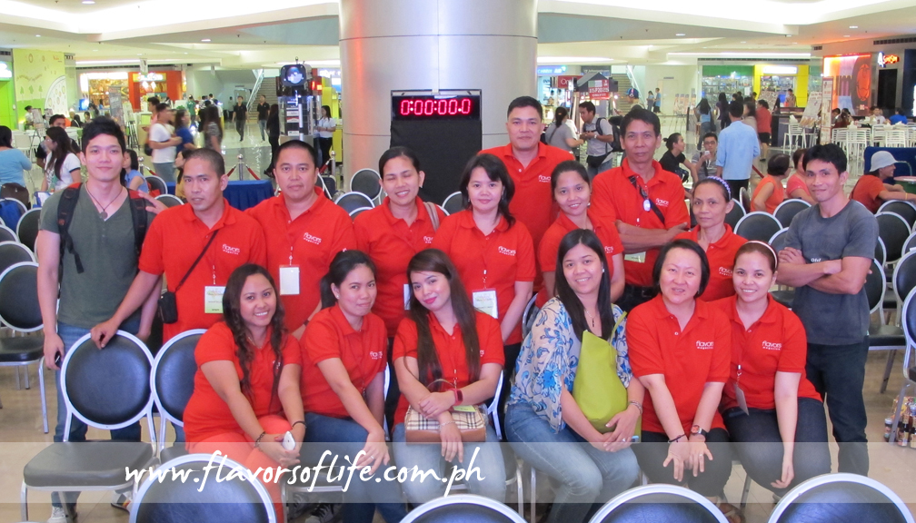 The red-clad staff behind FLAVORS Culinary Challenge 2013