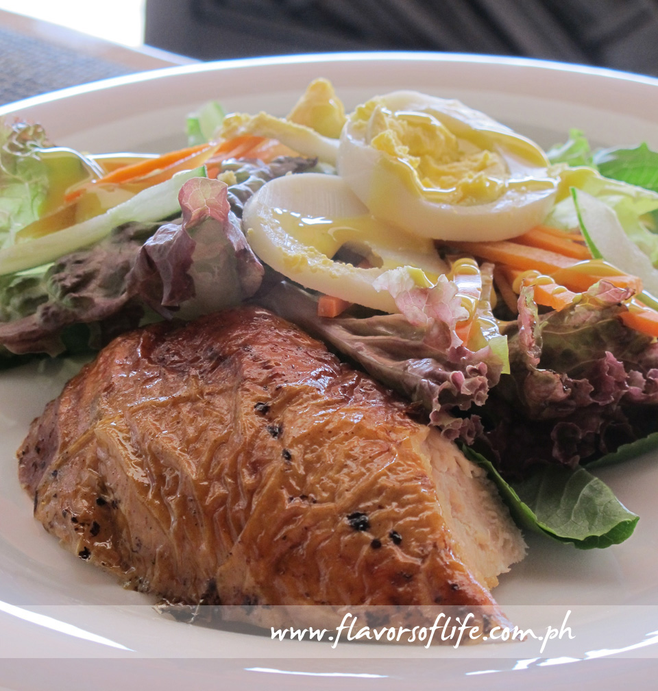 Fresh Green Salad with Chicken Inasal