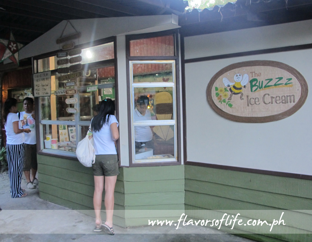 The Buzz Ice Cream scooping station