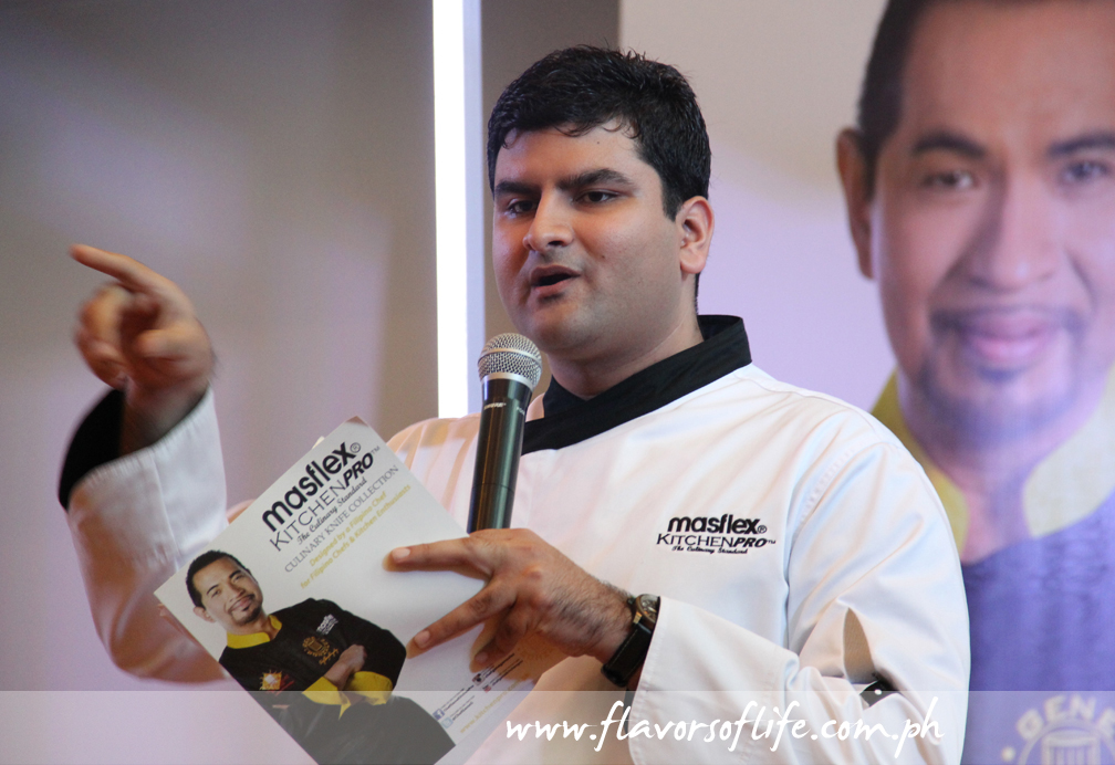 Masflex KitchenPro marketing manager Hiren Mirchandani explaining the features of the knife collection